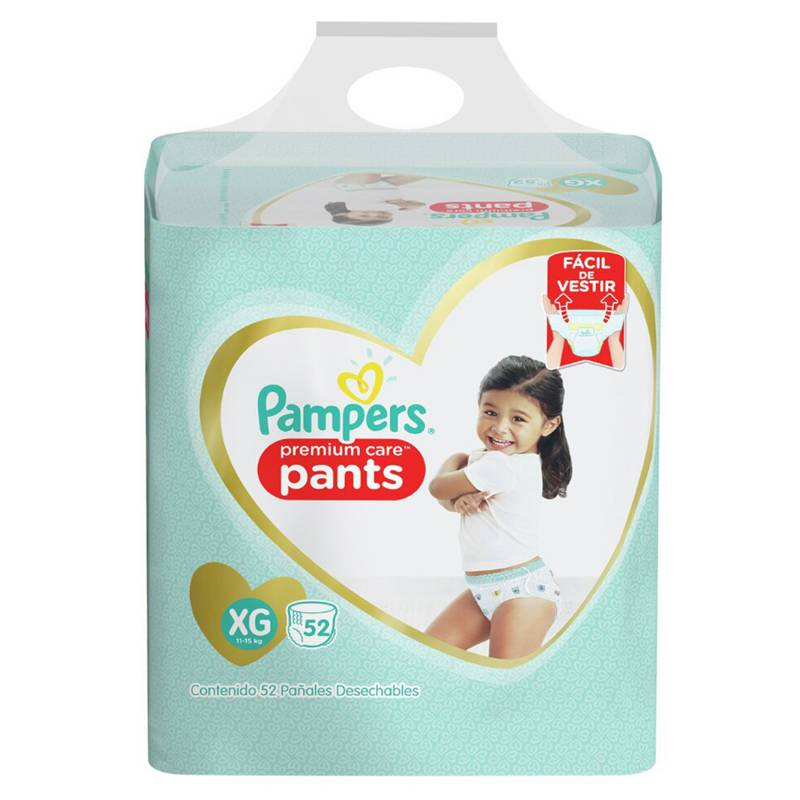 Pampers - 3 Pañales Pampers Pants Premium Care 156u Talla Xg
