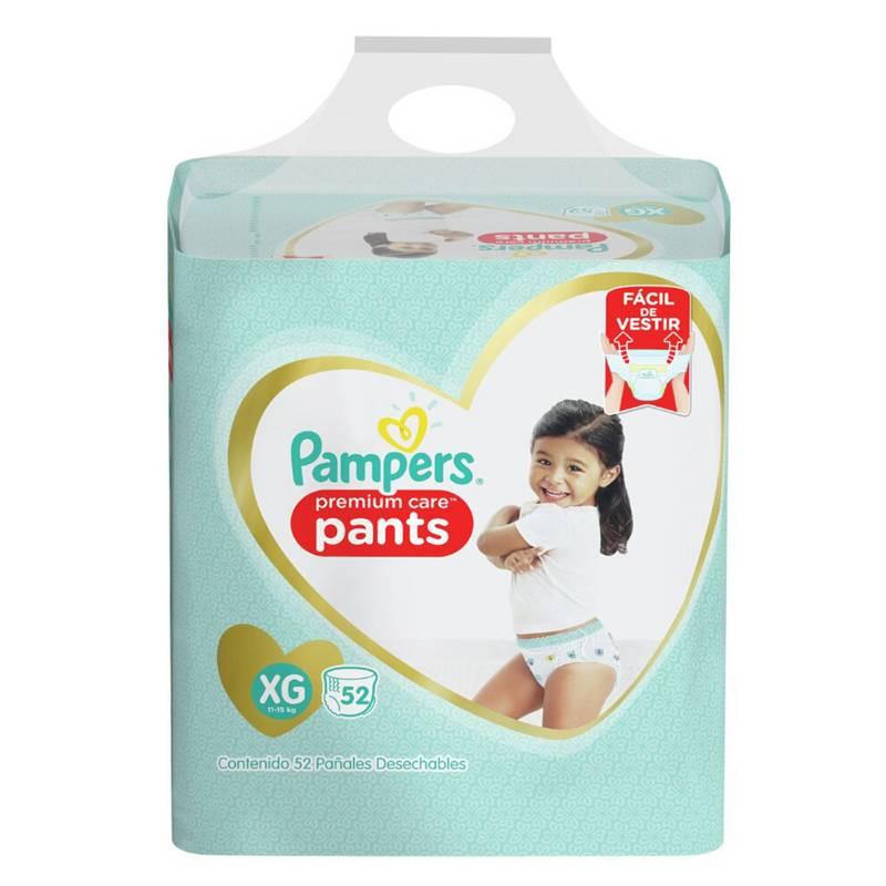 Pampers - 4 Pañales Pampers Pants Premium Care 208u Talla Xg