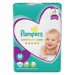 Pampers - 2 Pañales Pampers Premium Care 164 Unid Talla M
