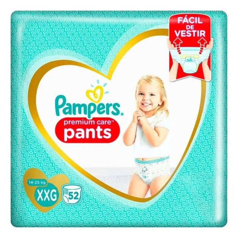 Pampers - 2 Pañales Pampers Pants Premium Care 96  Talla Xxg