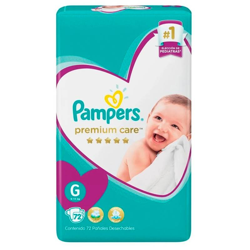 Pampers - 4 Pañales Pampers Premium Care 288 Unid Talla G