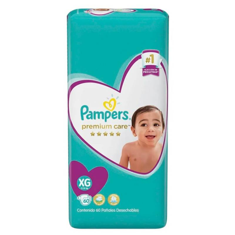 Pampers - 3 Pañales Pampers Premium Care 180 Uni Talla Xg