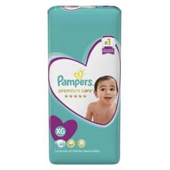 Pampers - 4 Pañales Pampers Premium Care 240 Uni Talla Xg