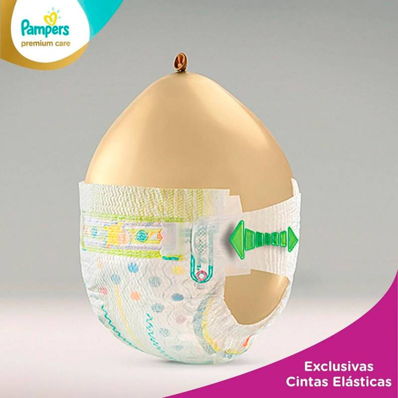Pampers - 4 Pañales Pampers Premium Care 240U. Talla Xxg