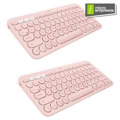 Logitech - Teclado K380 Multi-Device Bluetooth Keyboard Pink