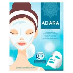 ADARA - Pack de 20 Máscaras Faciales de Coenzyma Q10