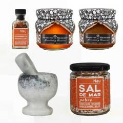 CONDIMENTOS NAU - Miel Mermelada Condimento Sal y Mortero