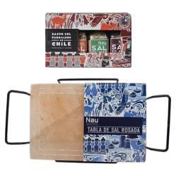 CONDIMENTOS NAU - Pack Parrilla y Tabla de Sal con Soporte