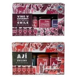 CONDIMENTOS NAU - Pack Vino y Gourmet / Ajies