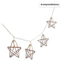 REGALITOLINDO.CL - Guirnalda de Luces Estrella  Cobre Rosa