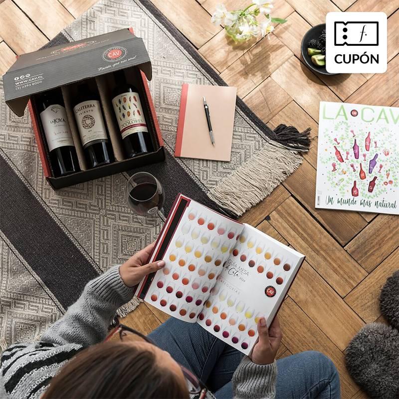 LA CAV - 3 meses de pack de vinos: 1 Gran Reserva + 1 Premium + 2 vinos Gran reserva de regalo (primer mes)