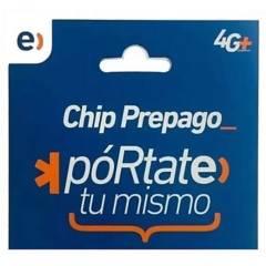 ENTEL - Chip Prepago Entel Sim Card  Carga Inicial
