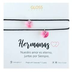 GLOSS CRYSTAL - Pulseras Hermanas Hilo Cristal Genuino