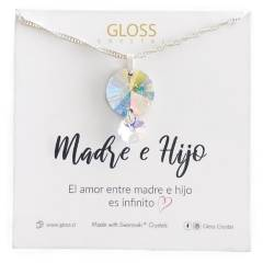GLOSS CRYSTAL - Collar Madre E Hijo Plata 925 Cristal Genuino