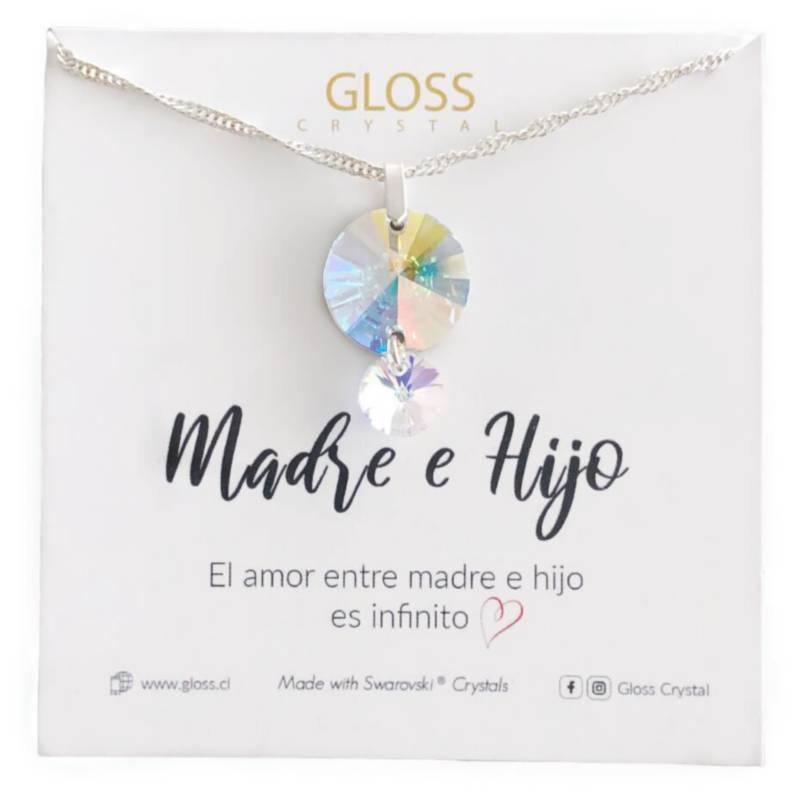 GLOSS CRYSTAL - Collar Madre E Hijo Plata 925 Cristal Genuino