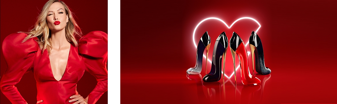 Tacón, Perfume rojo, Karlie Kloss, Carolina Herrera, nueva york, ultra femenina, cautivadora, empoderada, moderna, tacón, poder, sensualidad, rojo, stiletto, femenina, poderosa, juguetona, sofisticada, Very  Good Girl