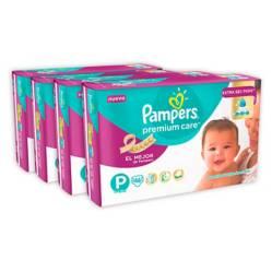 Pack x 4 Pampers Premium Care Peq 46