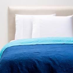 Cubrecama Bicolor Azul