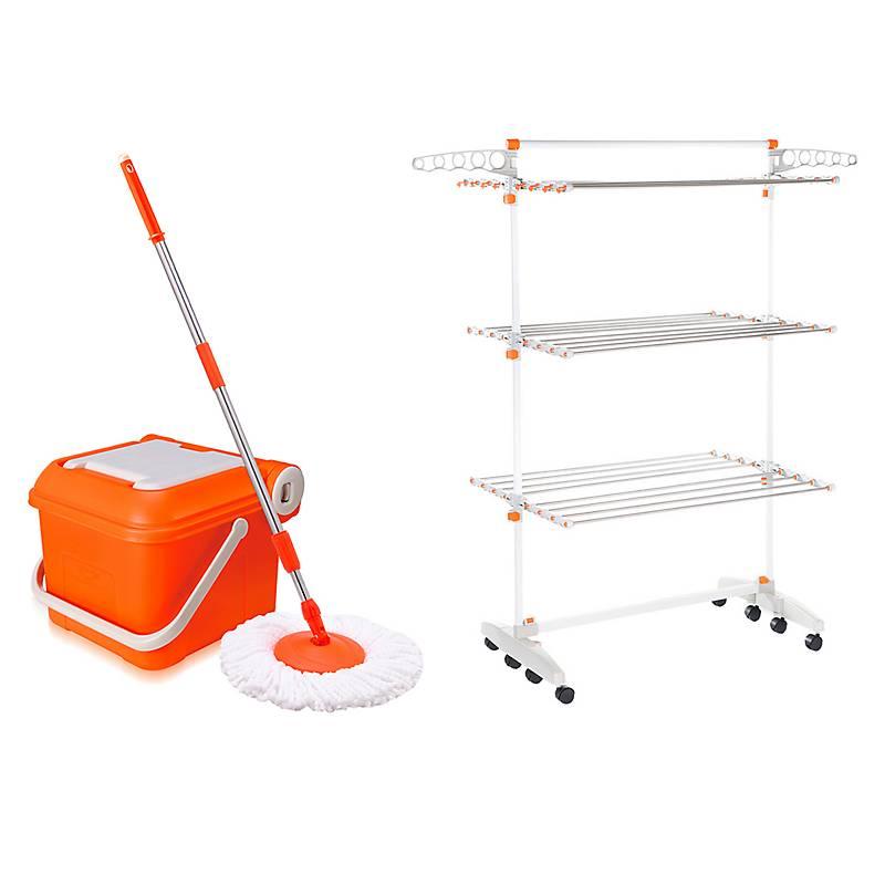 35e078952421 TValue Spin Mop Naranjo + Magic Hanger Tendedero de Ropa Premium 2 ...