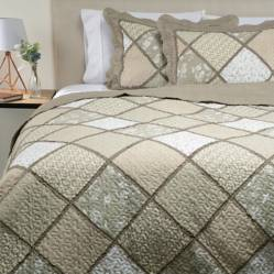 Cubrecama Patch Beige