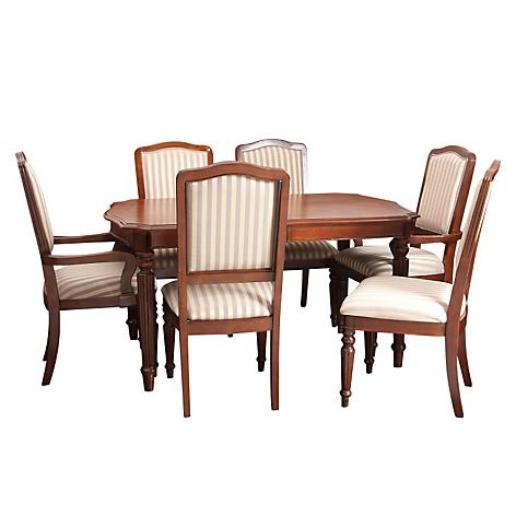 Ashley Juego de comedor Exton 4 sillas + 2 sitiales - Falabella.com