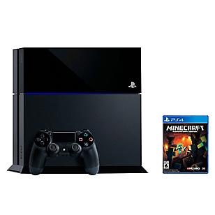 Consola PS4 500 GB Negra + Minecraft
