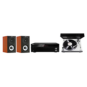 Receiver Stereo 4508 BT + Tornamesa Profesional PM-9805 + Parlantes S622