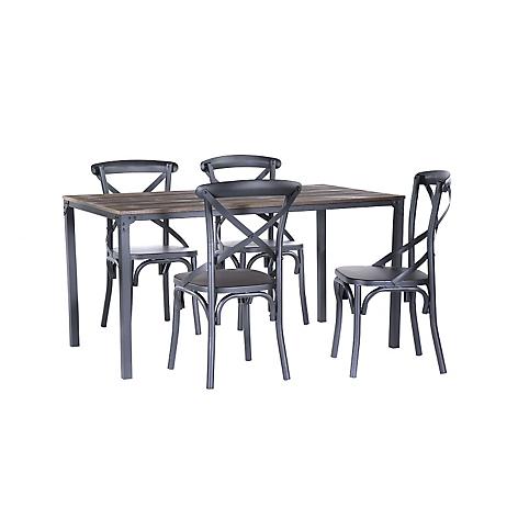 Basement home juego de comedor 120 cm 4 sillas bombay for Comedor 4 sillas falabella