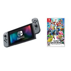 undefined - Combo Consola Switch Negra + Super Smash Bros Ultimate