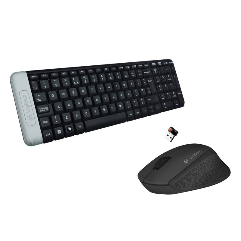 Pack Mouse Inalambrico M280 Negro + Teclado Logitech Inalambrico k230