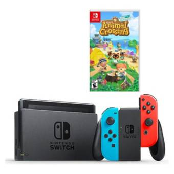 NINTENDO<BR>COMBO CONSOLA NINTENDO SWITCH LT2 + JUEGO ANIMAL CROSSING NEW HORIZONS