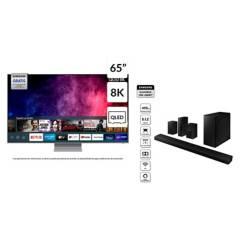 """Samsung - QLED 65"""" QN65Q800T 8K Smart TV + Soundbar HW-Q800T"""