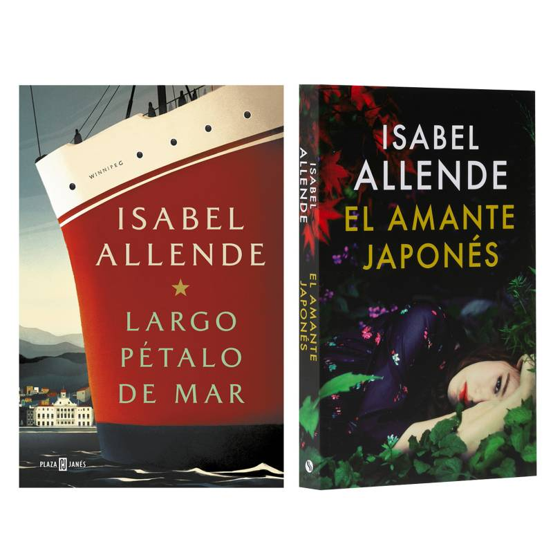 - Pack x2 Isabel Allende Largo Petalo de Mar + Amante Japones