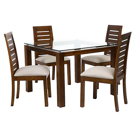 Basement home juego de comedor capri miel 4 sillas miel for Juego de comedor 4 sillas moderno