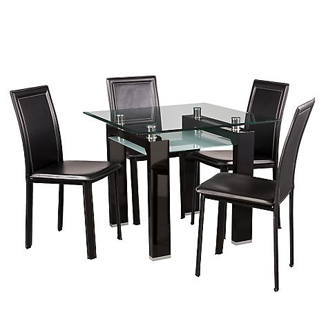 Juego de comedor new prisma 4 sillas for Juego comedor pequea o
