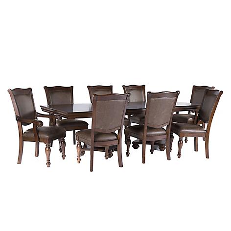 Roberta allen juego de comedor 6 sillas y 2 sitiales king for Falabella muebles de comedor