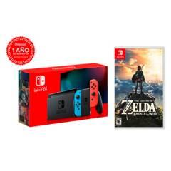 NINTENDO - Consola Switch LT2 + Zelda Breath Of The Wild