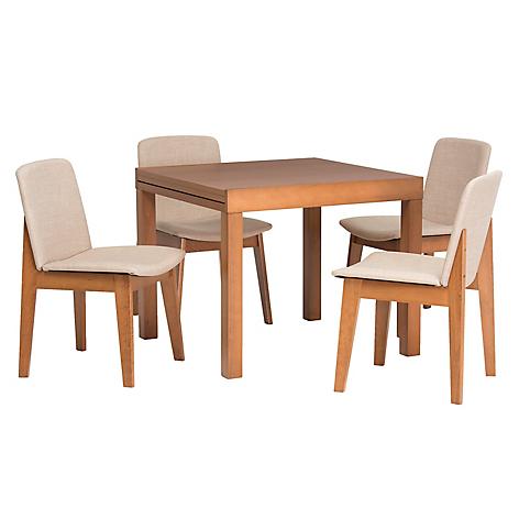 Mica juego de comedor 4 sillas dan s for Falabella muebles de comedor
