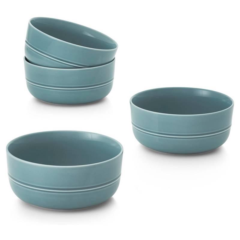 CRATE & BARREL - Set 4 Bowl Hue Azul
