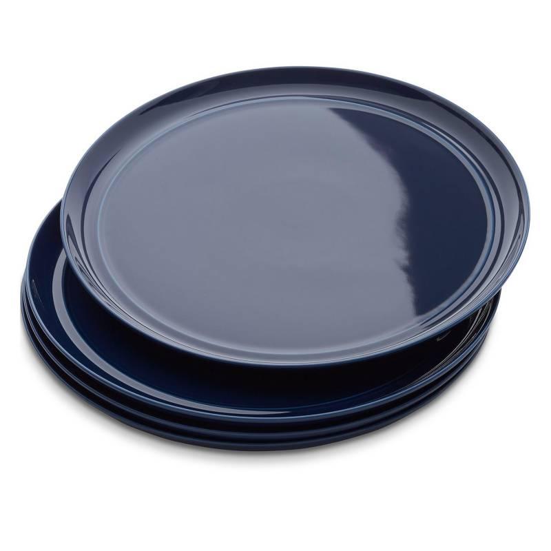 - Set 4 Platos de Fondo Hue Azul Marino