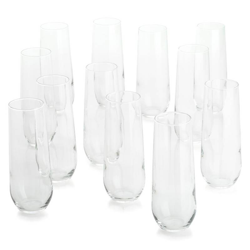 CRATE & BARREL - Set 12 Copas Champagne Stemless