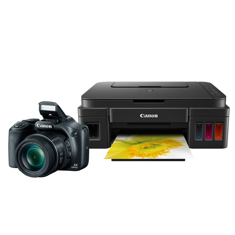 - Cámara Semiprofesional SX530 + Multifuncional Pixma G-2100