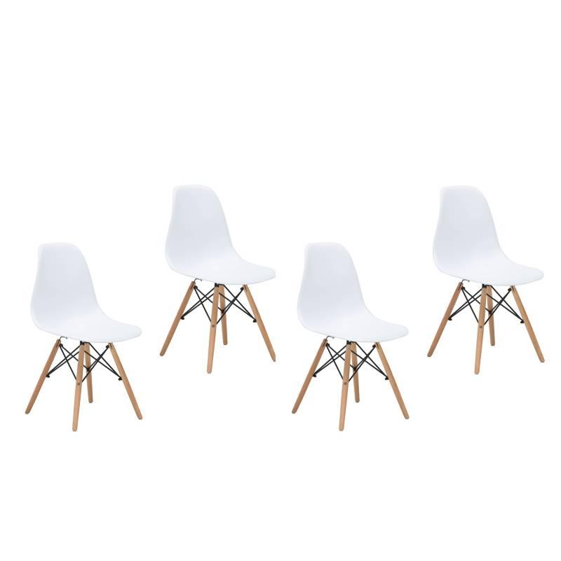 - Pack 4 sillas Bilund Blanca