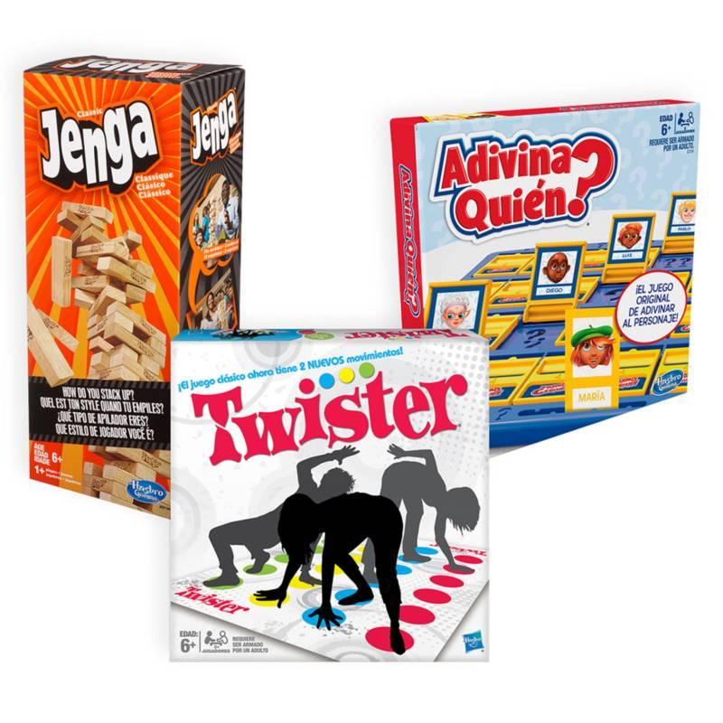 - Pack Clásico: Jenga + Twister Refresh + Nuevo Adivina Quien