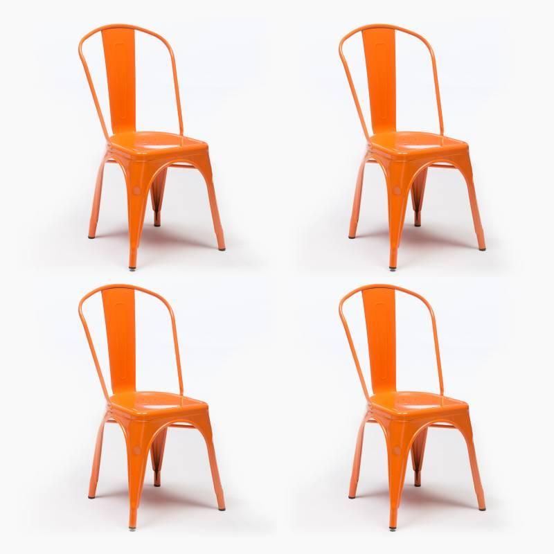 - Pack 4 Sillas Alton Naranja