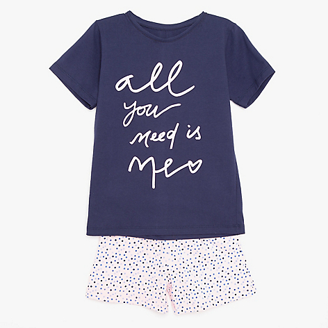 Pijama niña All you need is me 2 a 8