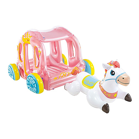 Inflable unicornio con carruaje