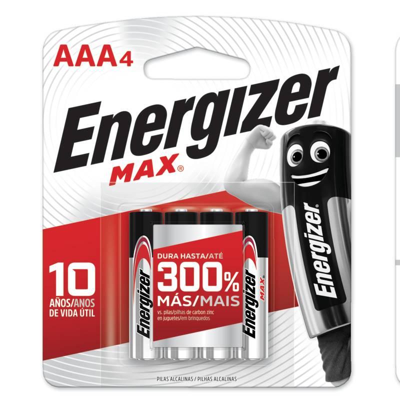 Energizer - Set por 4 pilas AAA