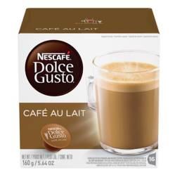 Nescafé - Caja 16 cápsulas Café Au Lait café Dolce Gusto