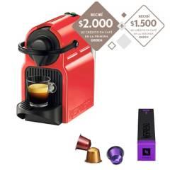 Nespresso - Cafetera Inissia BK Pack 0.7l